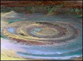 Richat Structure, Mauritania : Image of the Day : NASA Earth Observatory 06/29/2004