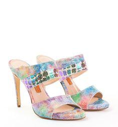 IRIS our multi coloured mules 💚💙💛🧡💜❤ Shoe Collection, Iris, Sandals, Color, Shoes, Fashion, Slide Sandals, Moda, Shoes Sandals