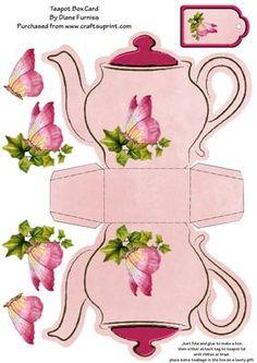Чайник из бумаги своими руками шаблоны, мужу