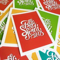 Lettering for Sant Jordi's Day #lettering #handlettering #design #poster #composition #colorful #santjordi #2015 #catalunya #handmade #work #art