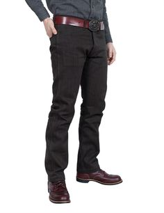 Buy Indigofera - Swearengen Pants Hickory Stripe - Black/Brown from HepCat Store in Sweden. Denim Branding, Raw Denim, Black And Brown, Jeans, Stuff To Buy, Shirts, Clothes, Fashion, Outfits