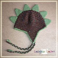 Dino spike hat.  Free crochet pattern.