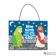 Submerged VBS Craft Idea: Day 3 - Jesus Saw Nicodemus (Oriental Trading)