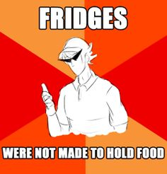 That was one of my favorite parts in homestuck. When Dave opens the fridge and its full of smuppets lol ( EXCUSE ME? it was full a swords.)