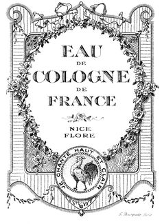 vintage perfume label images | Vintage Graphic Images - Lovely French Cologne Labels - The Graphics ...
