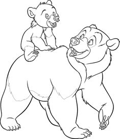 ~ looks kinda likr thid would be from Disney's Brother Bear Make your world more colorful with free printable coloring pages from italks. Our free coloring pages for adults and kids. Preschool Coloring Pages, Horse Coloring Pages, Cool Coloring Pages, Disney Coloring Pages, Printable Coloring Pages, Coloring Pages For Kids, Coloring Books, Free Coloring, Disney Tattoos