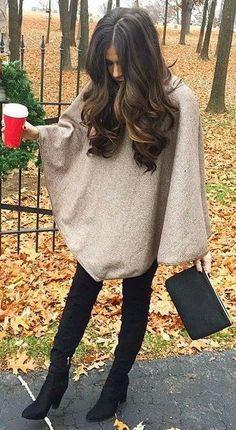 #fall #fashion / poncho