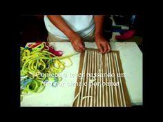 Artesanato - Tear de papelão E muitas ideias pintaram...