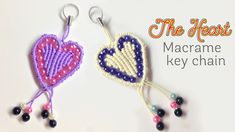 How to macrame: The heart key chain for valentine day - Hướng dẫn thắt m...