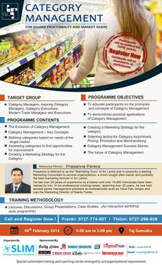 Category #Management By Prasanna Perera On the 8th of February from 9am to 5pm at #Taj #Samudra