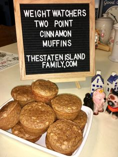 Weight Watchers Two Point Cinnamon Muffins - The Staten Island family