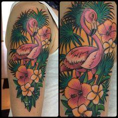 #tattoo #tattoostudio #München #colortattoo #flamingo #flamingotattoo #ink #girltattoo @rusinotattoo