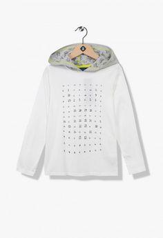 T-shirt garçon phosphorescent Soldes Ecru de la marque Z-Eshop