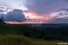 The sunset in Colombia's Valle de Cocora