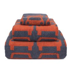 Discover the Orla Kiely Kids Large Car Towel - Red - Bath at Amara Bathroom Towels, Bath Towels, Orla Kiely Towels, Car Accessories, Children, Fabric, Red, Color, Boys