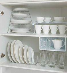 kitchen storage ideas, tableware storage ideas, storage solution for kitchen - The Effective Pictures We Offer You About bedroom closet A quality picture can tell you many thing - Kitchen Cupboard Organization, Tidy Kitchen, Diy Kitchen Storage, Kitchen Cupboards, New Kitchen, Home Organization, Kitchen Decor, Kitchen Small, Organizing