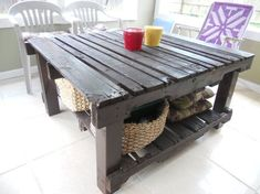 table grey pallet1 Upcycled pallet table ! in outdoor living room home decor furniture  with Table Coffee table
