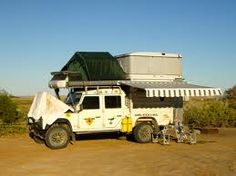 Land rover defender Camping