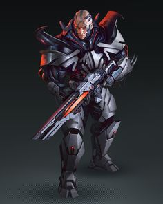 Starfinder: The Threefold Conspiracy, Tomasz Chistowski Character Concept, Character Art, Character Design, Character Ideas, Arata Tokyo Ghoul, Space Warriors, Futuristic Armour, Digital Art Fantasy, Space Fantasy