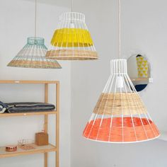 STRAW canne pendant lamps, designed by Isabelle Gilles et Yann Poncelet for SERAX. COLONEL SHOP ,decoration and contemporary furniture in Paris. Diy Luz, Home Interior, Interior Design, Design Design, Design Shop, Licht Box, Room Lamp, Bed Room, Desk Lamp