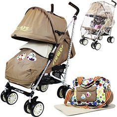 iSafe buggy Stroller Pushchair - Flowers (Complete With Footmuff, Changing Bag, Bumper Bar & Rain cover) Best Baby Strollers, Double Strollers, Jogging Stroller, Changing Bag, Travel System, Prams, Looking To Buy, Edge Design, United Kingdom