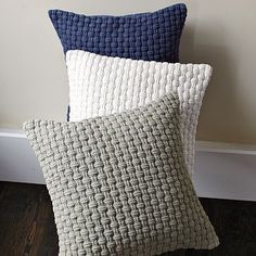 @Tara Harmon Moberly - I need your basket weave crochet pattern for these! Pillows which I can make for a bazillionth of what West Elm wants for them!