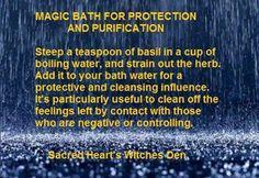 Magic bath for Protection n Purification