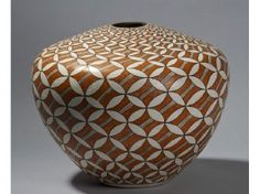 Acoma Native American Indian Pottery Jar by Marie Z. The large Acoma pottery jar or olla has a repeating eye s. Native American Decor, Native American Pottery, Native American Indians, Ceramic Painting, Ceramic Artists, Pottery Designs, Pottery Art, Pueblo Pottery, Native Design