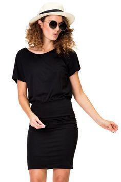 dots in stripes dress My Wardrobe, T Shirts, Striped Dress, Stripes, Shirt Dress, How To Wear, Black, Dresses, Fashion