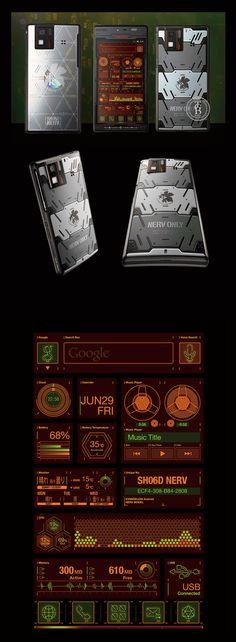 "Evangelion Phone ""SH-06D NERV""|Product Design|CLIENT: NTT DOCOMO / Sharp Corporation / GAINAX Co., Ltd."