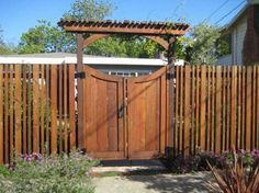 Wooden Garden Fences | Fence, Awesome Fence Gate Designs Ideas And Match With Your Fence ...