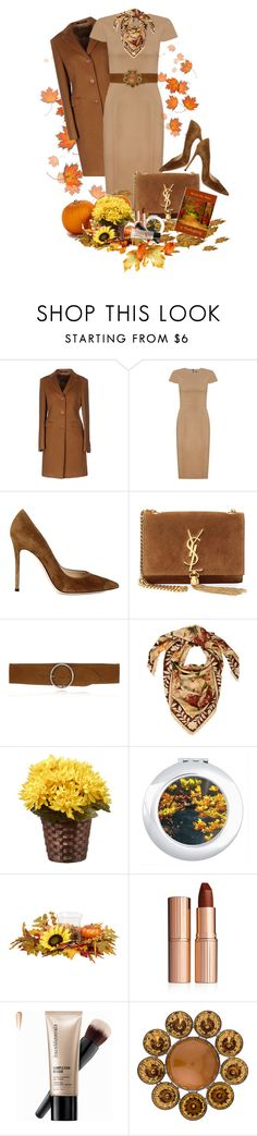 """""""Autumn Style Dress Outift"""" by sgolis ❤ liked on Polyvore featuring Tagliatore, Andrea Marques, Gianvito Rossi, Yves Saint Laurent, Gucci, Charlotte Tilbury, Bare Escentuals, Louis Vuitton, falloutfit and fallstyle"""