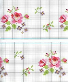 cross stitch chart (sweet roses).