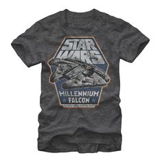 20% OFF ALL #STARWARS DESIGNS NOW! Star Wars Men's - Millennium Falcon Hunk of Junk T Shirt