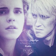 Draco & Hermione - Dramione ( a fault in our stars quote) Draco And Hermione, Draco Malfoy, Hermione Granger, Harry Potter Books, Harry Potter Love, Harry Potter Universal, Dramione, Drarry, Scorpius Rose