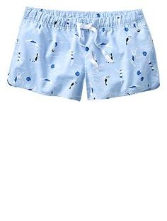 Swimmer printed poplin shorts | Gap