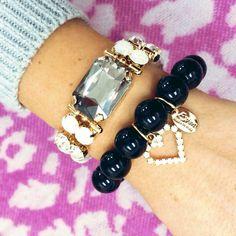Spedizione gratuita Bracciale perle nere €26,60 Bracciale €46,60 #manlioboutique Info: WhatsApp 329.0010906 #bracelets #accessories #gems