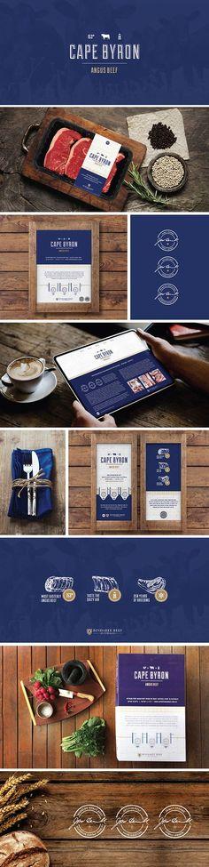 Graphic Design - Bindaree Beef Australia - Cape Byron Angus Beef Branding design