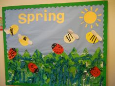 A super Spring classroom display photo contribution. Great ideas for your classroom! Nursery Display Boards, Classroom Display Boards, Display Boards For School, Classroom Displays, Spring Display Ideas Classroom, Classroom Ideas, Early Years Displays, Class Displays, School Displays