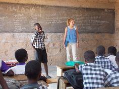 A UBELONG volunteer teaching in Accra, Ghana. #volunteerabroad #ghana