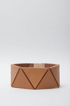Lauren Manoogian Triangle Cuff Leather Bracelet