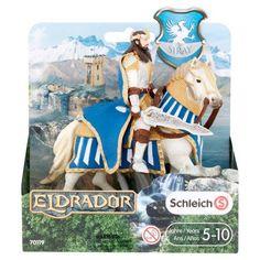 Schleich Eldrador Siray Griffin Knight King on Horse Toy 5-10 Years, Silver