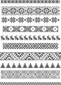 borders, embroidery royalty-free stock vector art Grenzen, Stickerei Lizenzfreies vektor illustration knitting patterns for socks Fair Isle Knitting Patterns, Bead Loom Patterns, Knitting Charts, Knitting Stitches, Cross Stitch Borders, Cross Stitch Designs, Cross Stitch Patterns, Border Embroidery, Cross Stitch Embroidery