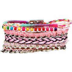 Boohoo Cassie Mixed Friendship Bracelet (69 MAD) ❤ liked on Polyvore featuring jewelry, bracelets, accessories, pulseras, friendship bracelet, bracelet bangle and bracelet jewelry