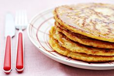 My Favorite Breakfast- Who Does Not Love Pancakes? Protein Pancakes, Pancakes And Waffles, Low Carb Breakfast, Breakfast Recipes, Healthy Baking, Healthy Snacks, Pancake Dessert, Cottage Cheese Pancakes, Go For It