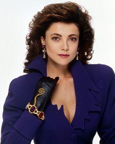 Emma Samms 11x14 Photo Purple Jacket Black Gloves Dynasty TV Era Portrait Cute | eBay