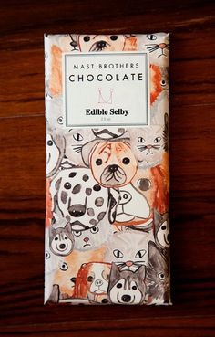 poster design by SOPA Graphics / Marin Design Edible Selby Mast Brothers Chocolate. Brand Packaging, Packaging Design, Branding Design, Product Packaging, Mast Brothers Chocolate, Design Package, Green Label, Identity, Funny Commercials
