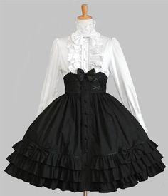 SALE until January 16 black lolita dress kawaii by Kawaii Fashion, Lolita Fashion, Cute Fashion, Look Fashion, Pretty Outfits, Pretty Dresses, Beautiful Dresses, Cute Outfits, Old Fashion Dresses