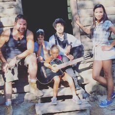 "naya-rivera: "" ""Naya on the set of Mad Families with Efren Ramirez and Juan G…"
