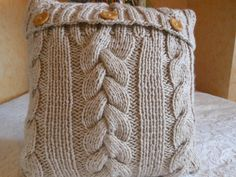 Cable Knit Pillow Cover Pillow Beige Pillow Decorative Knit Pillow Handmade Home Decor 16x16 by MyKnitCroch on Etsy https://www.etsy.com/listing/217402243/cable-knit-pillow-cover-pillow-beige